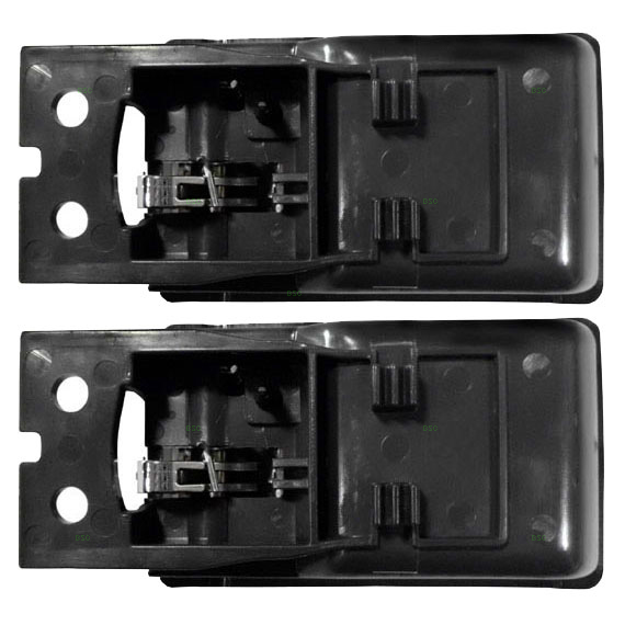Pair of Inside Inner Gray Door Handle Replacement for Nissan Pickup Truck 8067055G03