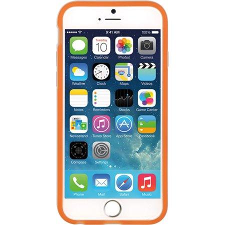 Insten Hard TPU Case w/stand For Apple iPhone 6 / 6s - Orange/White - image 2 de 3