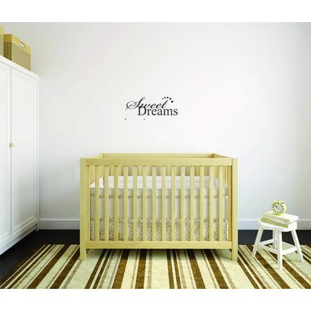 Custom Wall Decal Sticker : Sweet Dreams Bedroom Quote Kids Teen Boy ...