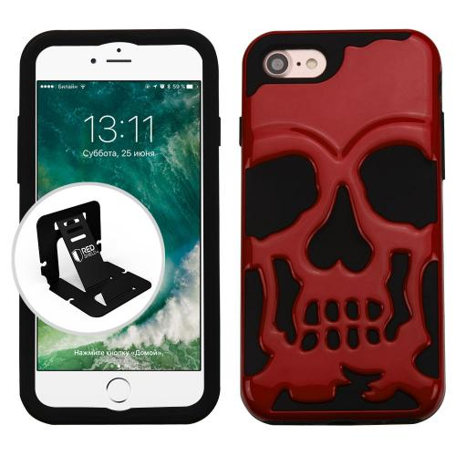 For iPhone 7 / 8 Skullcap Hybrid Protector Impact Armor Phone Case Cover