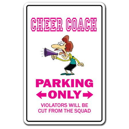 CHEER COACH Decal leader cheerleader gear poms megaphone cheers | Indoor/Outdoor | 9