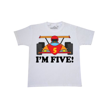 Race Car 5th Birthday Youth T-Shirt - Race Car Outfits