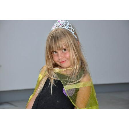 Framed Art for Your Wall Child Human Smile Face Girl Blond Princess 10x13 Frame - Princess Frame
