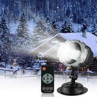 Snowfall LED Light Projector, Christmas Snow Light,Snow Falling Projector Lamp Dynamic Snow Effect Spotlight for Garden Ballroom, Party,Halloween,Holiday Landscape Decorative(Waterproof Remote)
