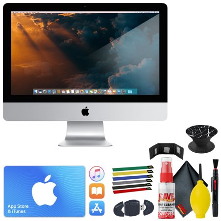21.5-inch iMac w/ Retina 4K display: 3.4GHz quad-core Intel Core i5 - POPSOCKETS Black Marble- Stanley 6 pack Hook & Loop Straps - ITUNES $50 CARD & More