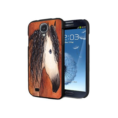 KuzmarK Samsung Galaxy S4 Black Cover Case - Buttermilk Buckskin Quarter Horse Abstract Art by Denise Every