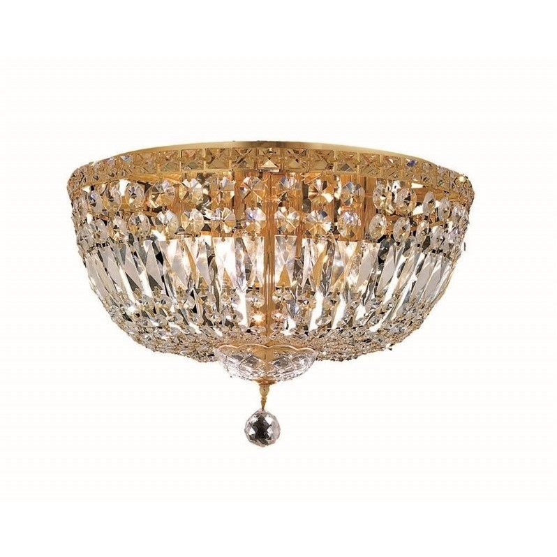 "Elegant Lighting Tranquil 18"" 8 Light Royal Crystal Flush Mount - image 1 de 1"