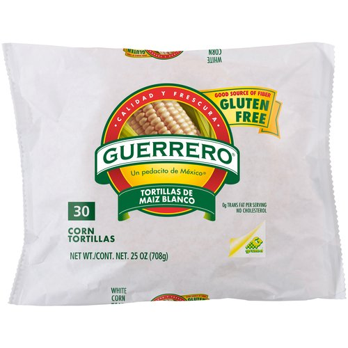 Guerrero White Corn Tortillas, 30 ct