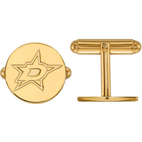 LogoArt NHL Dallas Stars 14kt Yellow Gold Cuff Links