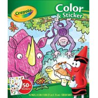 Crayola Jungle Animal Coloring Book With 50+ Stickers, Gift For Kids, 96 Pages