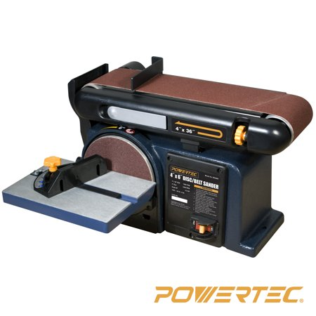 POWERTEC BD4600 Woodworking Belt Disc Sander, 4 x