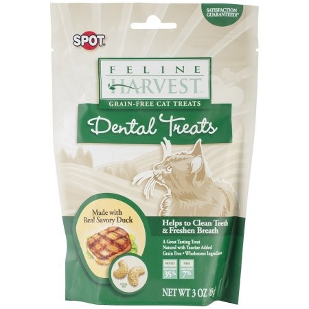 Ethical Pet Feline Harvest Dental Treats 3Ounce - Duck Fluidavor