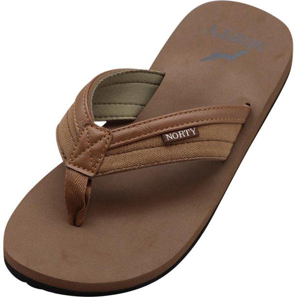 NORTY Mens Sandals for Beach, Casual, Outdoor & Indoor Flip Flop Thong  Shoe, 41161 Brown / 10D(M)US - Walmart.com - Walmart.com