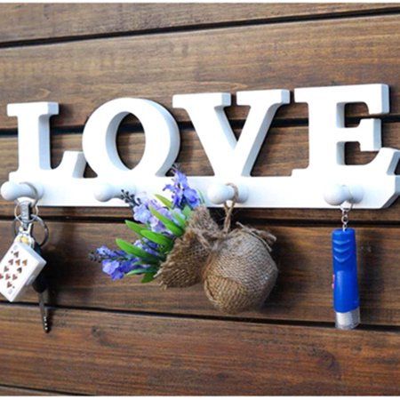 Love Hooks Clothes Robe Key Holder Bag Wall Decoration Hat Hanger Home Decor (Decor Key)