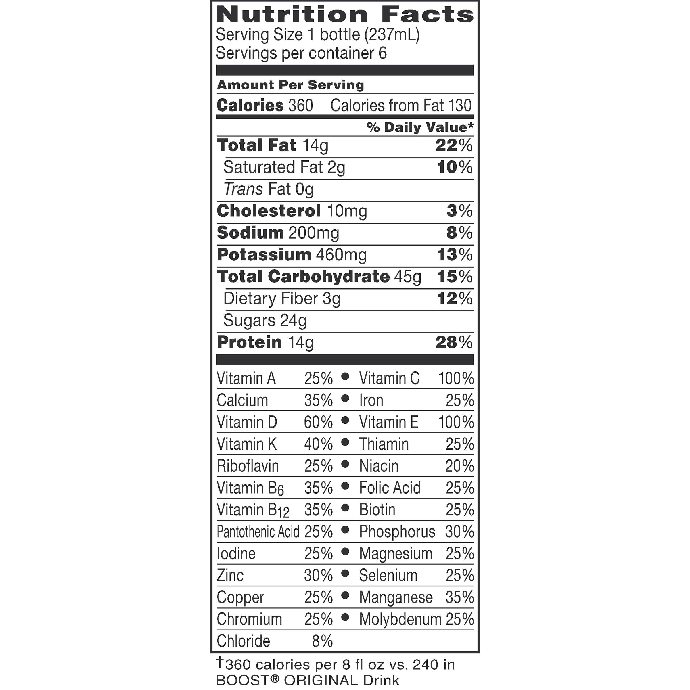 Boost Plus Complete Nutritional Drink, Rich Chocolate , 8 fl oz Bottle, 6 Count - Walmart.com