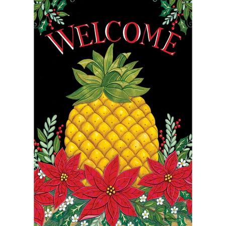 Christmas Pineapple.Custom Decor House Flag Christmas Pineapple