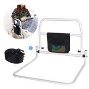 Bedside Safety Handle Bed Rail, Folding Guard Railing Bed Fence Stand Assist Support Handle & Organizer Pouch Adult Elderly Home Hospital Safety Aids