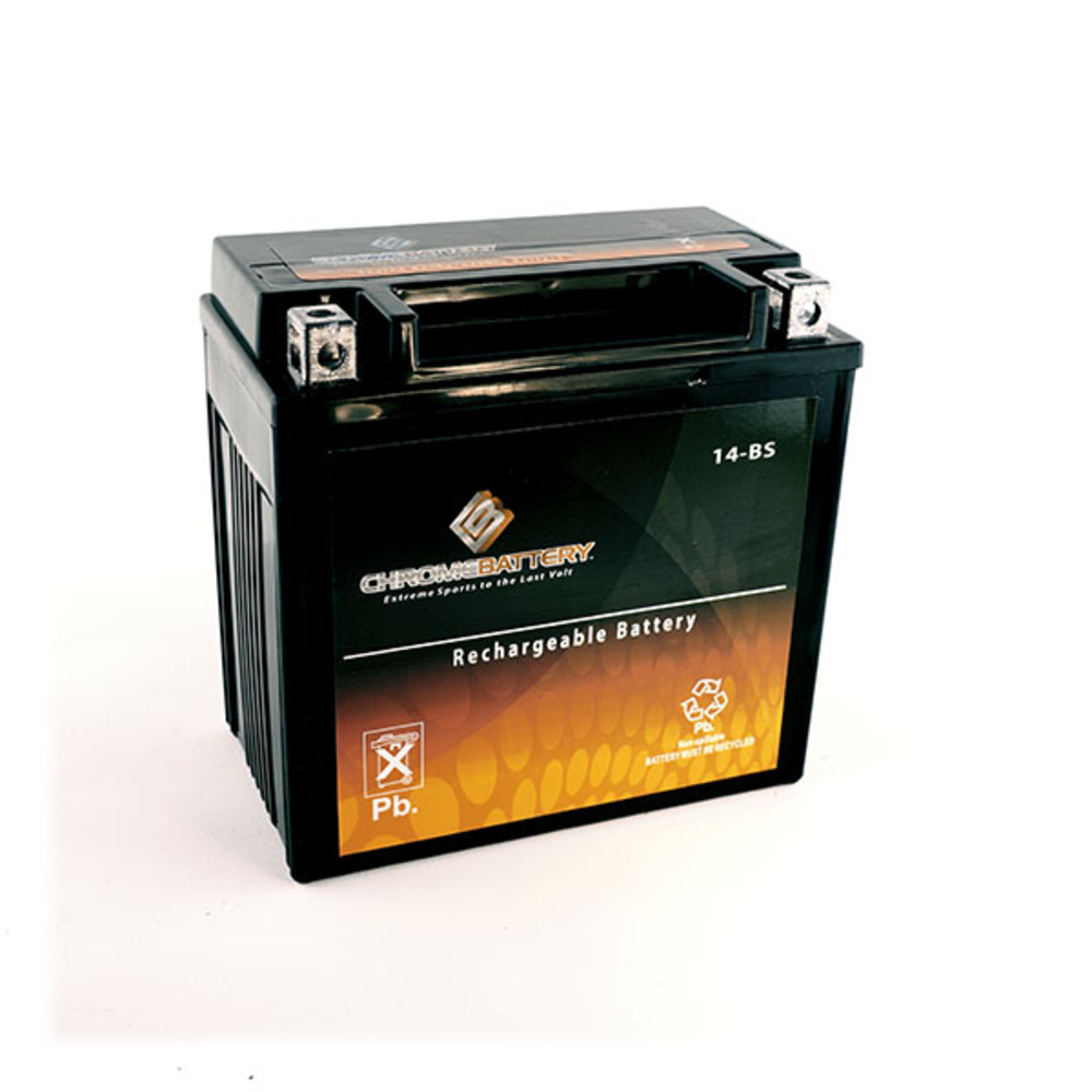 Chrome Battery YTX14-BS Scooter Battery for PIAGGIO MP3 5...