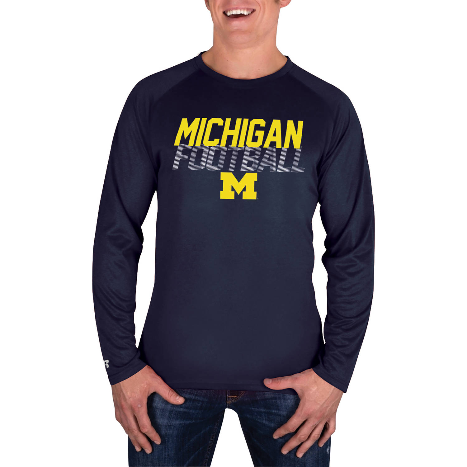 NCAA Michigan Wolverines Men's Long Sleeve Impact T-Shirt