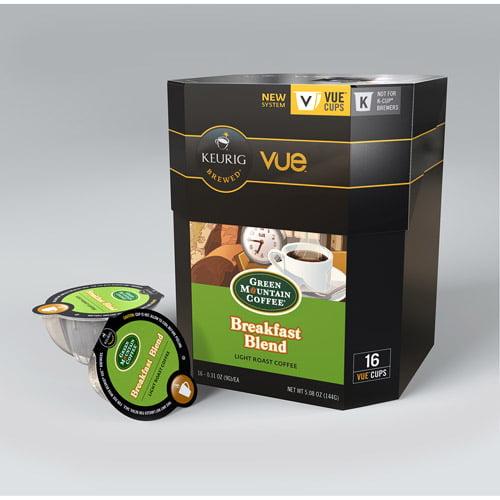 Keurig Vue Pack Green Mountain Coffee Breakfast Blend Coffee, 16ct