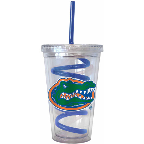 16oz NCAA Florida Gators Swirl Straw Tumbler