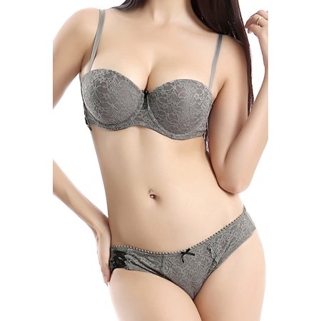 Women's Push-Up Bra & Thong 2-Piece