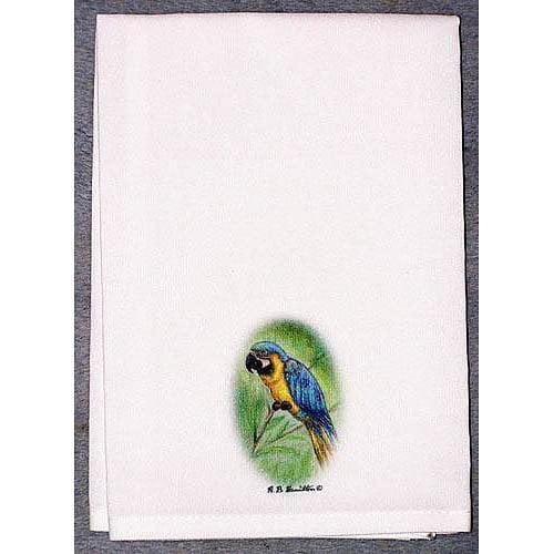Betsy Drake Interiors Coastal Macaw Hand Towel (Set of 2)