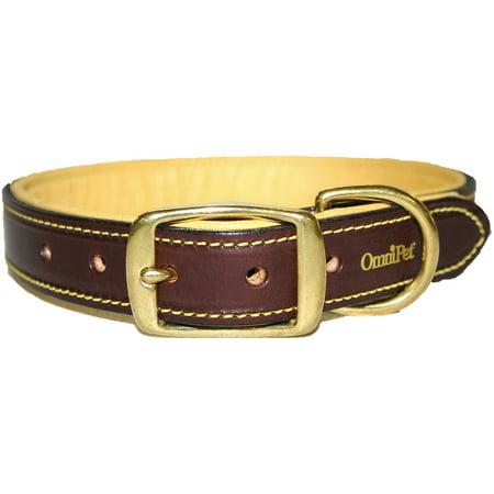 OmniPet Deer Tan Leather Dog Collar Black 1