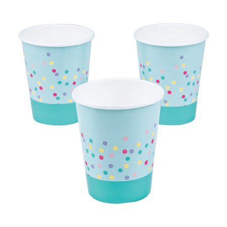 Fun Express - Donut Party 9oz Cups for Birthday - Party Supplies - Print Tableware - Print Cups - Birthday - 8 Pieces](Birthday Donut)