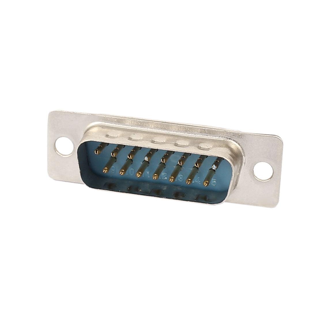 Souder 2 Row DB-15 M/âle Adaptateur de connecteur 15 broches VGA D-Sub 4 Pcs