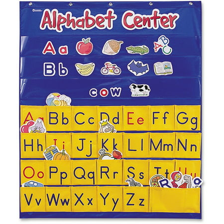 - Learning Resources, LRNLER2246, Alphabet Center Pocket Chart, 1 Each, Multi