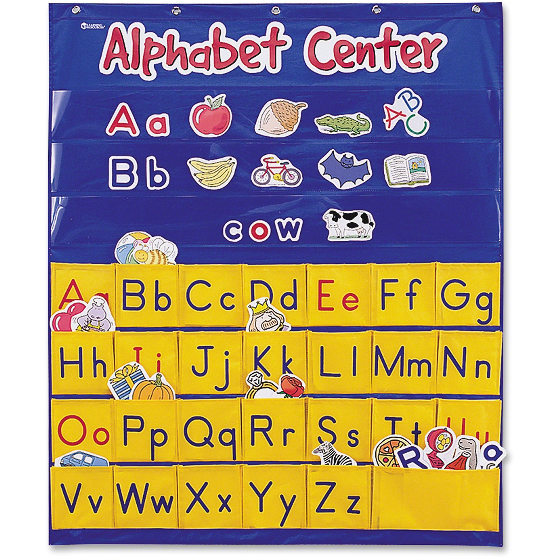 Learning Resources, LRNLER2246, Alphabet Center Pocket Chart, 1 Each, Multi