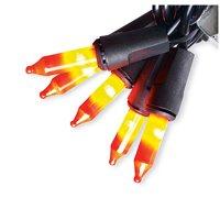Halloween Flickering Mini Light Set, Orange, 50 Ct., Sienna, W6654E13