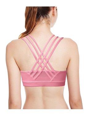 b14c99150c824 Product Image Camellias Womens High Impact Sports Bra Criss Cross Strappy  Seamless Workout Yoga Bra Tops Black