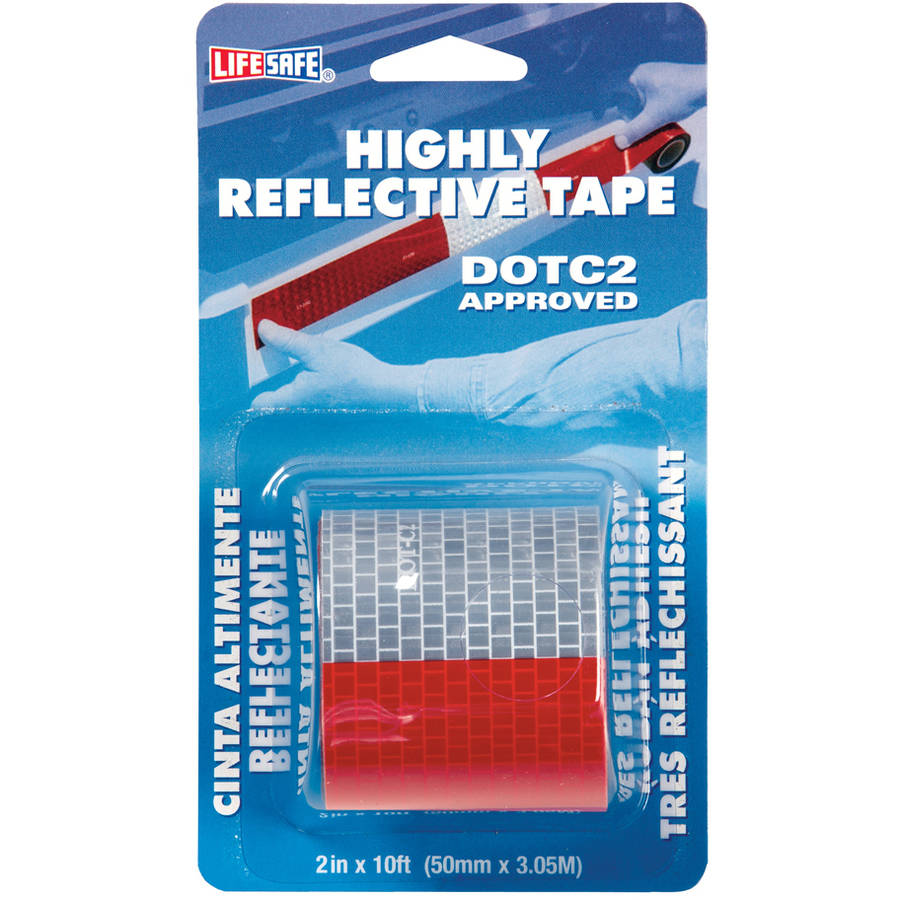 """Incom RE2110 2"""" x 10' Red and Silver Highly Reflective Tape"""