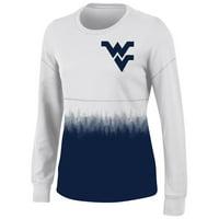 4ecd521191e Product Image Women s White West Virginia Mountaineers Oversized Fan Long  Sleeve T-Shirt