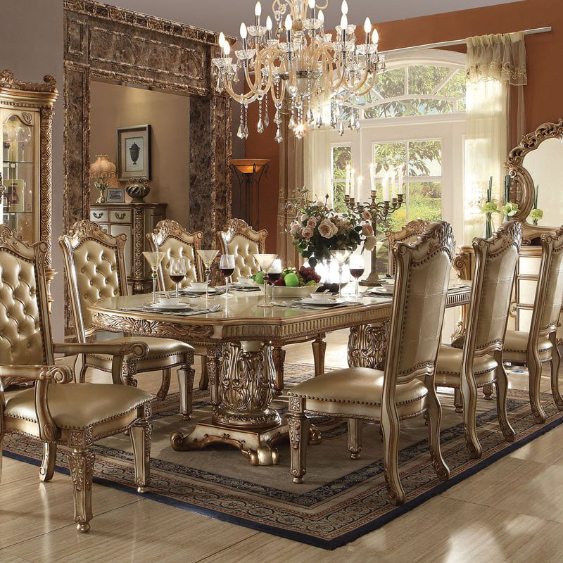 Acme Furniture Vendome Double Pedestal Dining Table by
