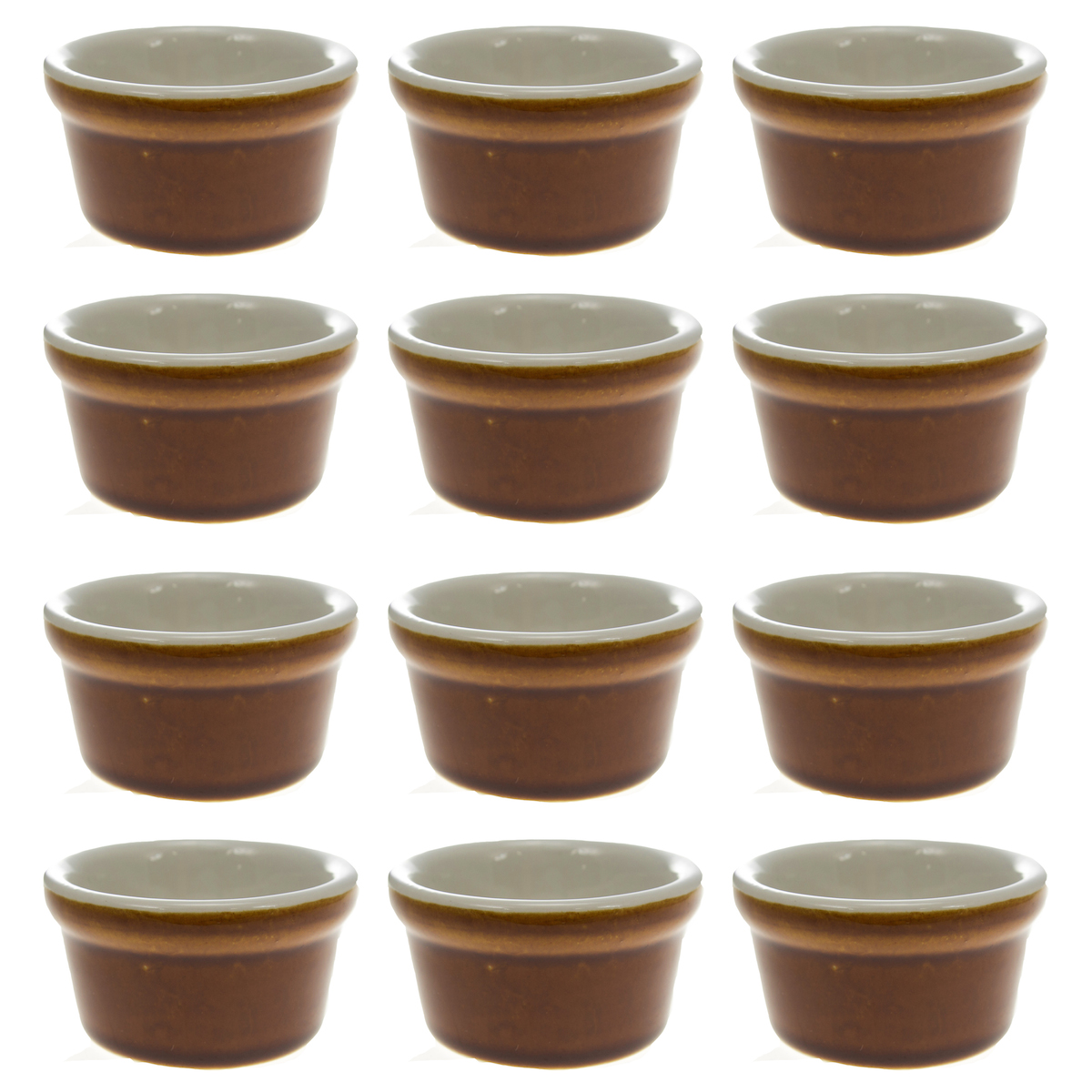 12 World Tableware Libbey Ultima 2.5oz Ramekins Dessert Sauce Caramel Colored by Libbey