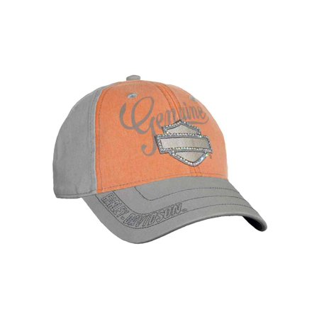 Women's Embellished Bar & Shield Baseball Cap, Washed BC114479, Harley Davidson (Harley Ball Cap)
