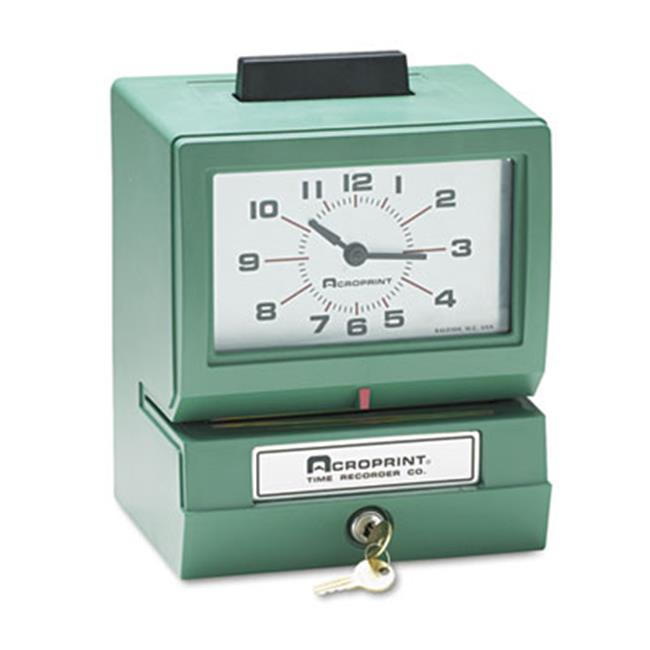 Acroprint Time Recorder 012070411 Model 150 Analog Automatic Print Time Clock with Month-Date-1-12 Hours-Minutes