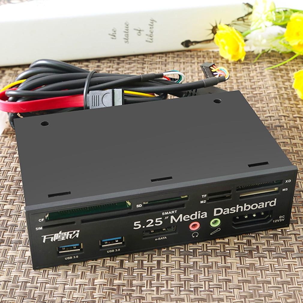 USB 3.0 All In 1 Media Dashboard 5.25 Inch CD ROM Multifu...