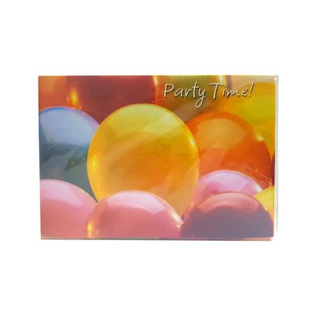 Balloon Invitations (Academy Greetings Party Time! Birthday Balloon Invitations w/ Envelopes (8)