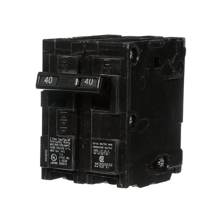 Siemens Circuit Breaker (Q240 40-Amp Double Pole Type QP Circuit Breaker, Double pole, 40 Amp, 240V type QP Circuit Breaker By)