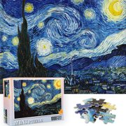 1000 Pieces Jigsaw Puzzles for Adults and Kids Van Gogh Starry Night Art Puzzles