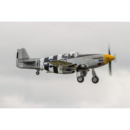 Fly P-51 Mustang - A P-51 Mustang flies by at Everett Washington Poster Print