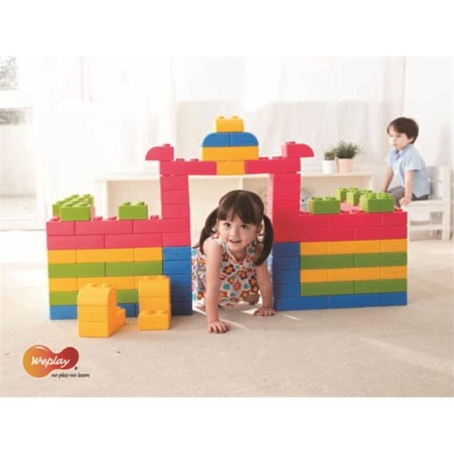 Weplay KC0004-065 Creative Soft Q Block with Bag, 64 Piece