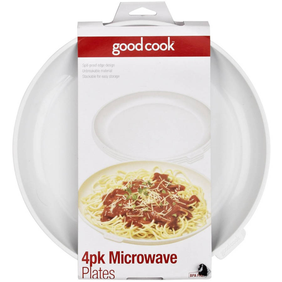 Good Cook Microwave Plates, Set of 4