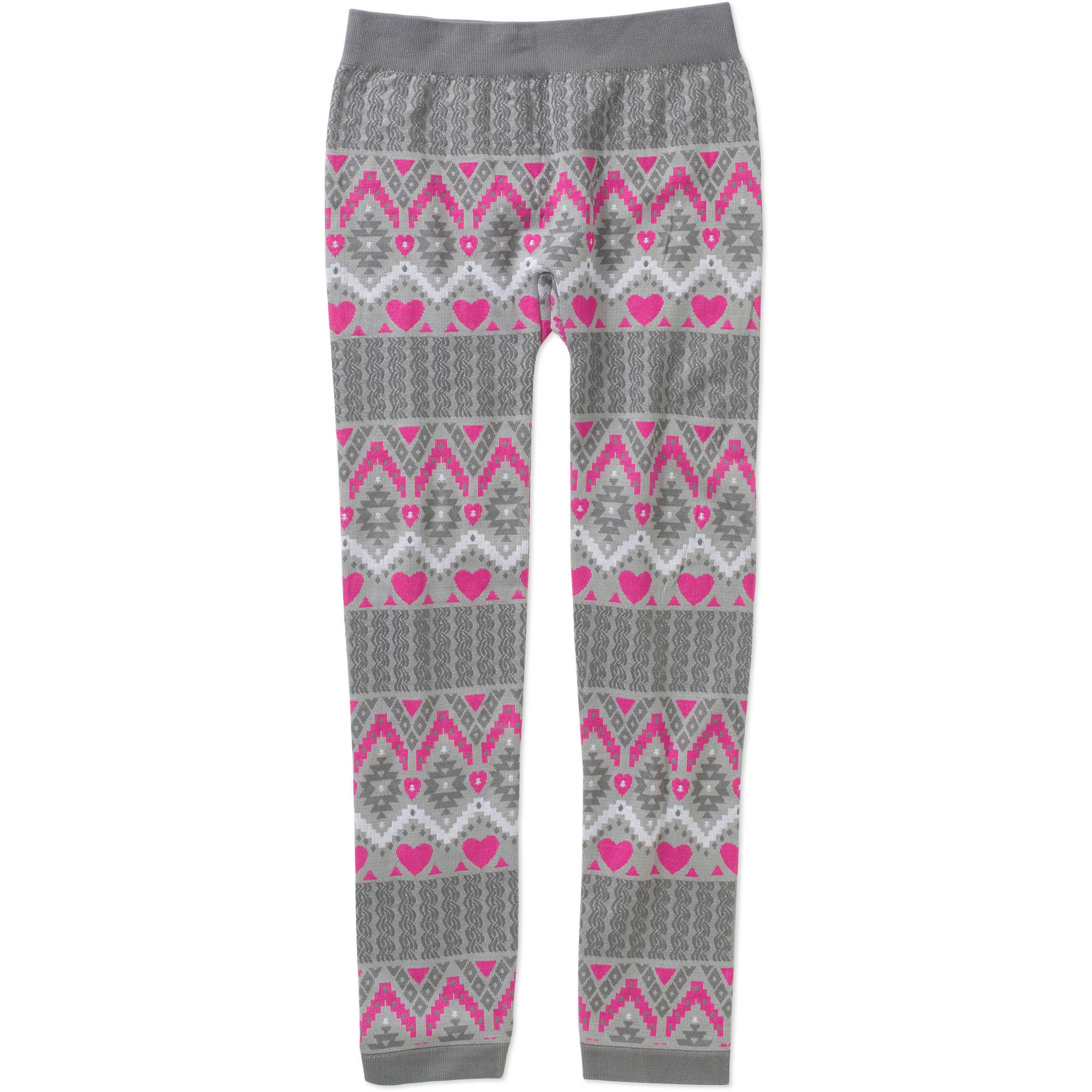 Faded Glory Girls' Essential Textured Multi-Patterned Leggings