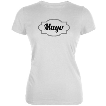 Halloween Mayonnaise Costume White Juniors Soft T-Shirt - Mayor Costume