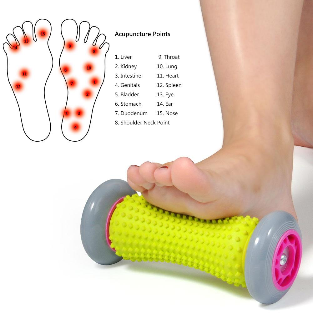 WALFRONT Foot Massager Roller Heel Muscle Rollers Pain Relief Rollers for Plantar Fasciitis